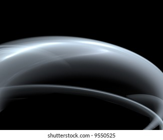 abstract metallic curve on black