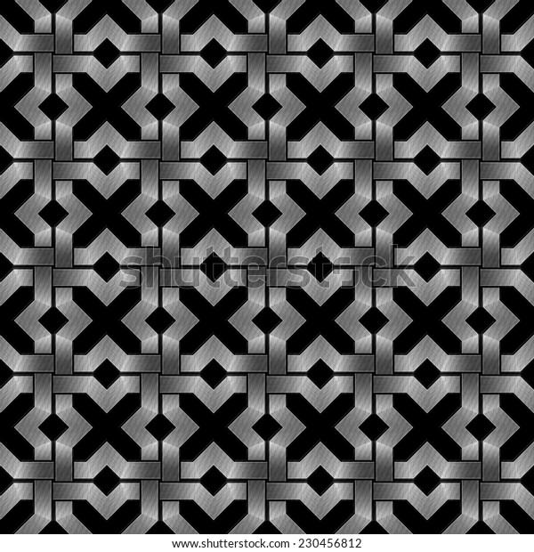 abstract metallic wickerwork pattern