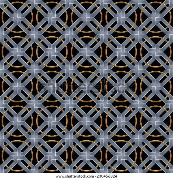 abstract metallic wickerwork pattern