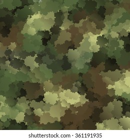 Abstract Military Camouflage Background Made of Splash