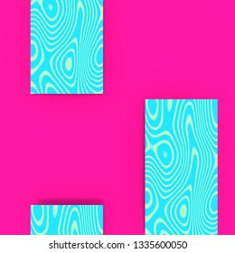 Abstract minimal background in modern flashy hip trendy colors.  With some cool patterns.