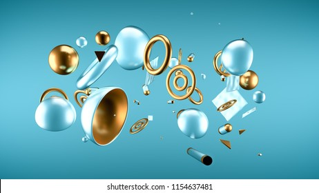 Abstract minimalism background. 3d illustration, 3d rendering.
