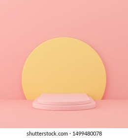 Abstract mock up scene pastel color. geometry shape podium background for product. 3d rendering