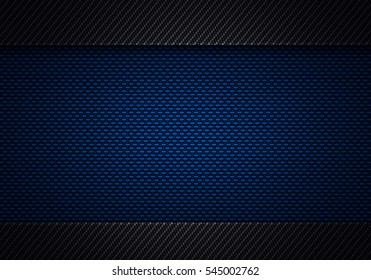 Abstract modern blue black carbon fiber textured material design for background, wallpaper, graphic design