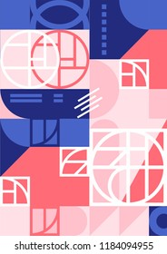 Abstract modern geometric artboards, background. Mix and create anything from product packaging to branding. Ideal for stationery, invitaion, festival and conference branding, print design and all you