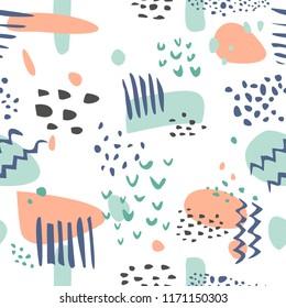 Abstract modern pastel tile pattern