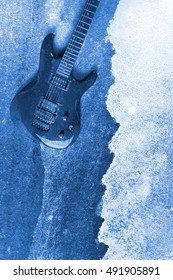 Abstract Modern Water Color Electric Guitar Background