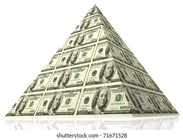 Abstract money pyramid - financial concept.