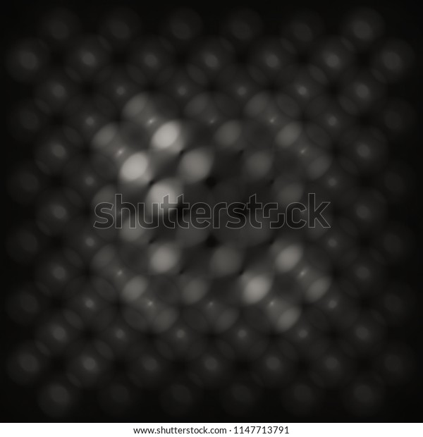 Abstract monochromatic bokeh overlay background image.