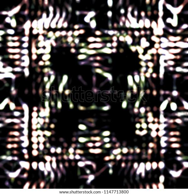 Abstract monochromatic bokeh overlay background image.
