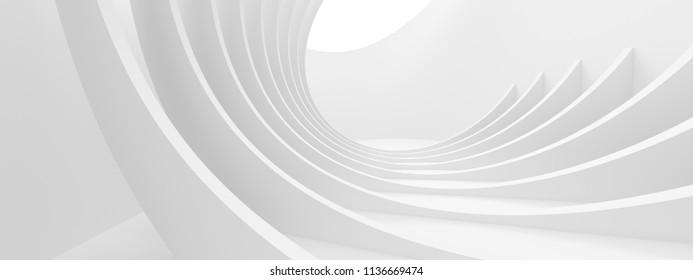 Abstract Monochrome Background. Minimal Futuristic Design. White Geometric Wallpaper