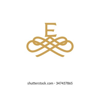 Abstract monogram elegant flower logo icon design. Universal creative premium letter E initials ornate signature symbol. Graceful sign.
