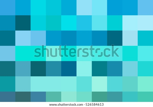 Abstract Mosaic Background Blue Cyan Turquoise Stock