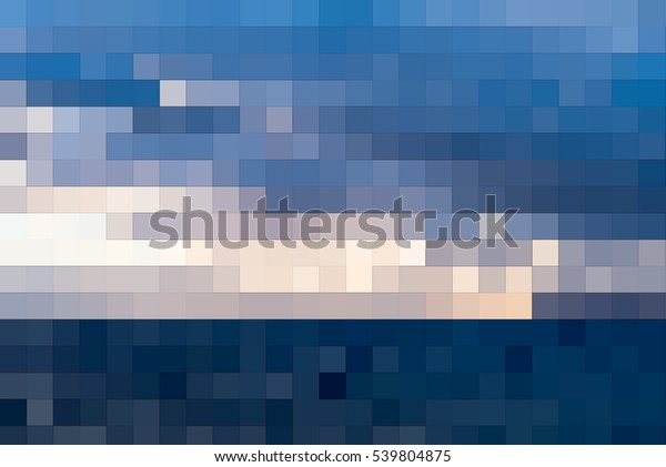 Abstract Mosaic Background Blue Cyan Turquoise Stock Illustration