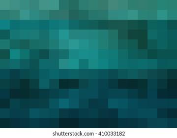 Abstract Mosaic Background, deep blue/teal/aqua gradient, pixels background, mosaic, abstract background, illustration background
