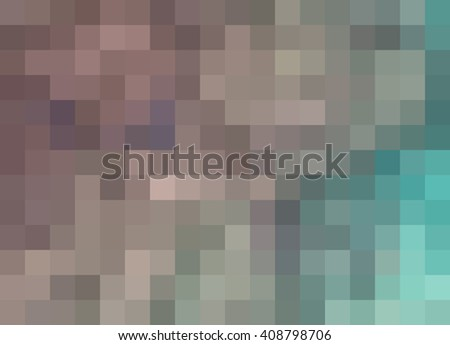 Abstract Mosaic Background, shades of rosy taupe and aqua blue, pixels background, mosaic, abstract background, illustration background