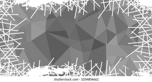 Abstract mosaic grunge horizontal frame. Copy space. Raster clip art.