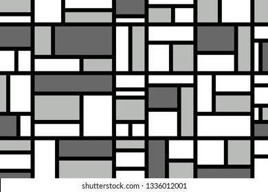 Abstract mosaic pattern grid with grey colours