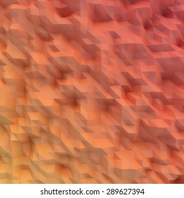 abstract mosaic wallpaper RED 3D displacement