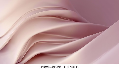 Abstract mother of pearl pink background. Luxury dusty pink background. 3D rendering.