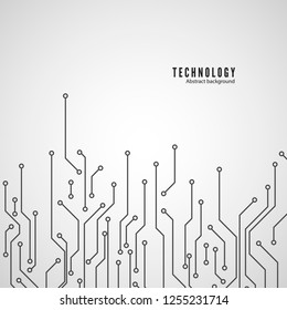Abstract motherboard texture. Abstract technology circuit board circle background. illustration