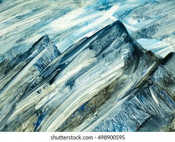 Abstract mountain landscape hand painted background