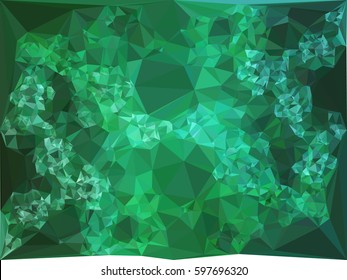 Abstract multicolor mosaic backdrop. Geometric low polygonal background. Design element for book covers, presentations layouts, title backgrounds. Raster clip art.