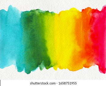 Abstract multicolor rainbow watercolor textured background. business card with space for text or image.