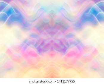 Abstract multicolored background with fractal waves. Beautiful illustration.