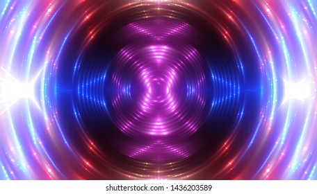 Abstract multicolored creative lights background. illustration digital.
