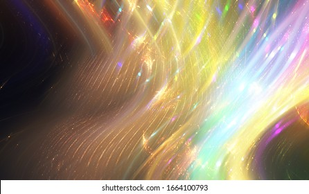 Abstract multicolored elegant background with glitter and waves. Abstract background with rays. Beautiful abstract ilustration motion.