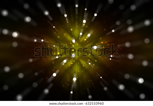Abstract multicolored fractal composition. Magic explosion star with particles. motion illustration.