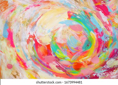 Abstract multicolored hand painting beautiful background