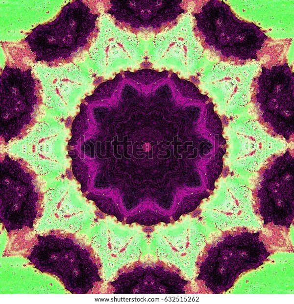 Abstract multicolored kaleidoscopic background. The futuristic pattern texture. Vintage geometric mosaic