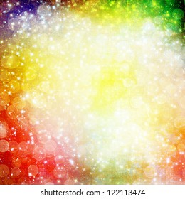 Abstract multicoloured background with blur bokeh for design