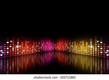 abstract music background for active night parties