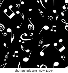 Abstract Music Seamless Pattern Background Vector Illustration