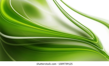 Abstract natural background with smooth green lines
