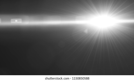 Abstract Natural lens flare ,Sun flare on black background.