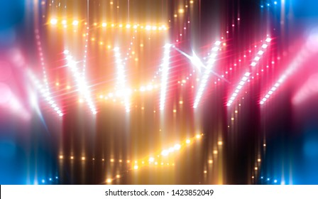 abstract neon background. vertical lines and strips. illustration digital.