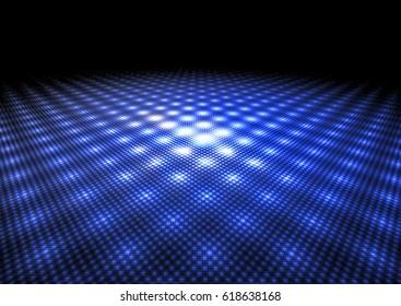 abstract neon blue dance floor background texture