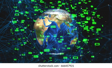 abstract network connection concept for background