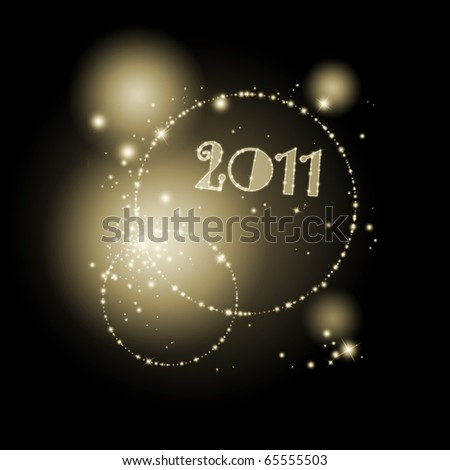 abstract new year background in golden and black