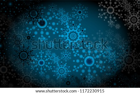abstract new year background with snowflakes