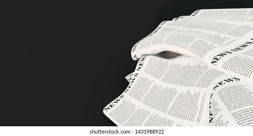 Abstract newspaper background, original 3d rendering