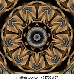 abstract nonagon pattern