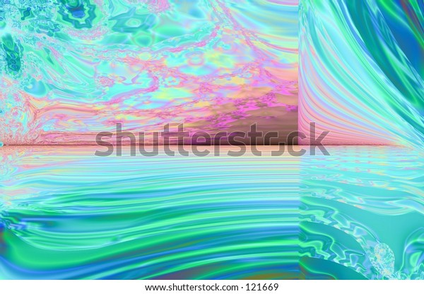 abstract ocean sunrise