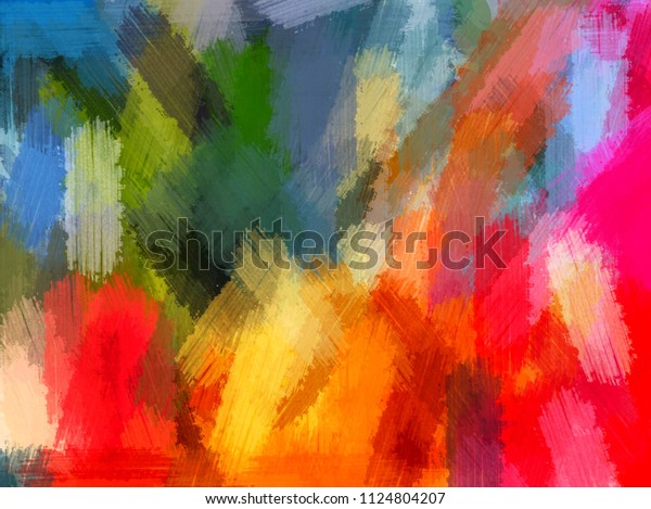 Abstract Oil Painting Oil Colors Grunge Stock Image