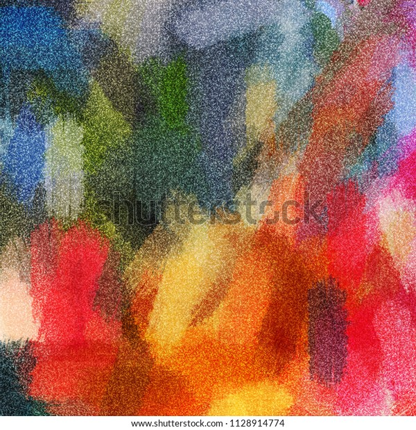 Abstract Oil Painting Oil Colors Grunge Stock Illustration