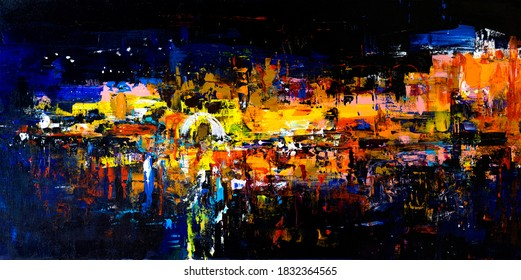 Abstract oil painting. Modern art.